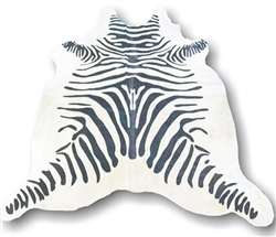 Zebra Natural hide Modern Rug Large Black & White  - Natural Products Will Have Color Variations  *Special Order