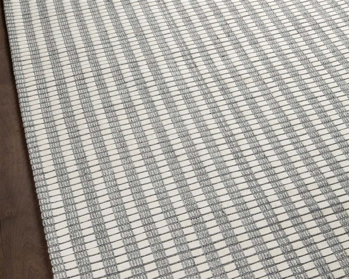 Orissa Hand Woven Contemporary Beige and Grey  5' x 7'6