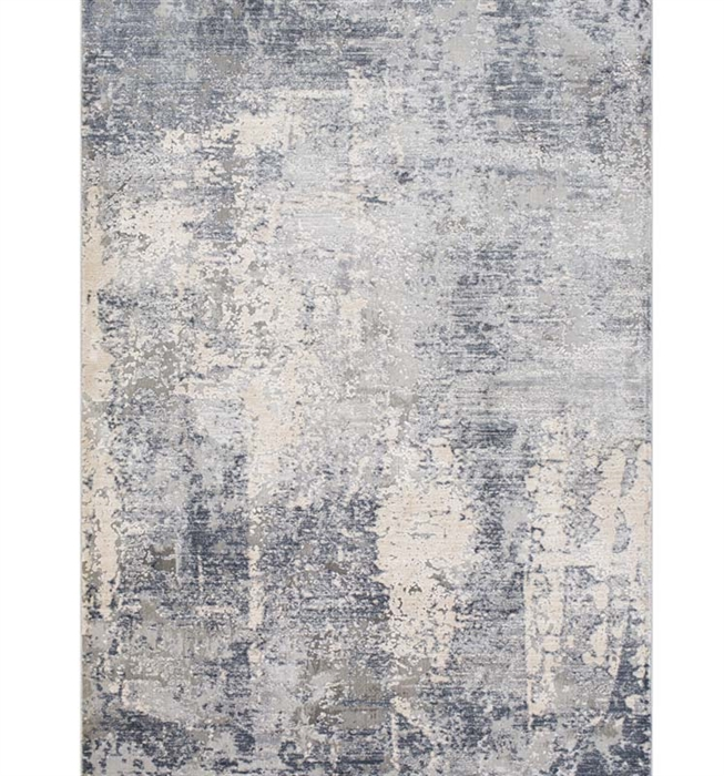 Alpine Modern Rug Medium Gray, Charcoal, Light Gray, Ivory
