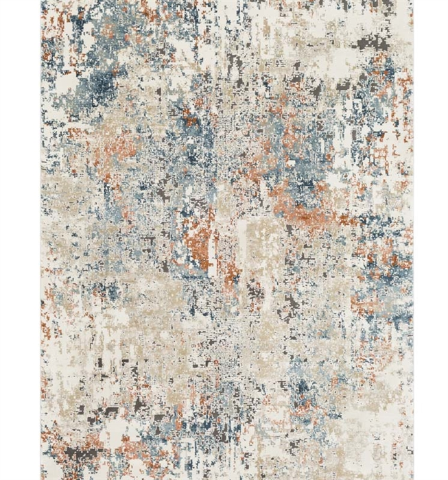 "Pune Modern Rug 9' x 12'4"" Aqua, Beige, Collection"