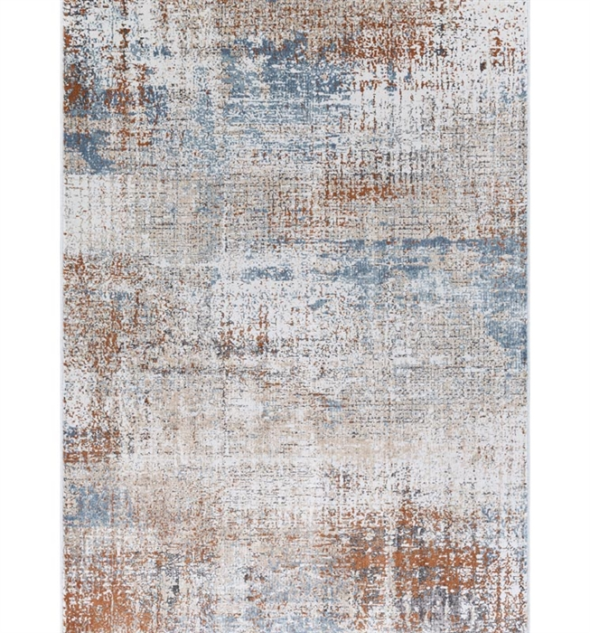Maxwell Modern Rug Cream, Grey, Blue, Orange Collection