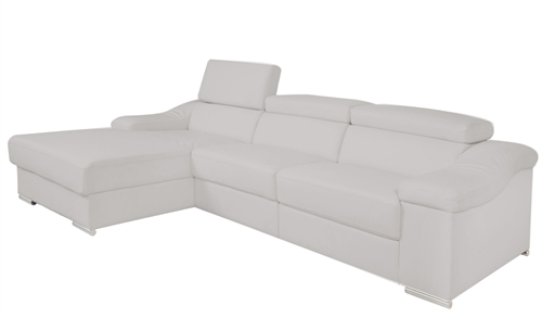 Laurette Modern Sectional 1 armless Modern Insert without Recliner GREY -(Right Facing Chaise)- FINAL SALE - SOLD AS IS - NO RETURN - SOLD OUT