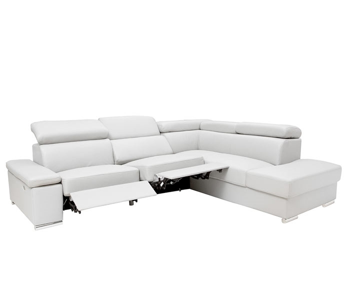 The graceful lines and adjustable head and arm rests make this sectional stylish enough for any room while maximizing comfort. Available with or without recliner.