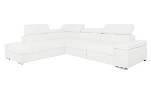 Elysee Modern Sectional Ultra-white Not Motor (Left Facing Chaise) - FINAL SALE, NO RETURNS