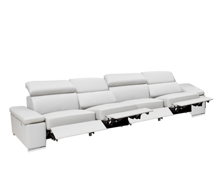 Elysee Modern Sectional Grey 4 RECLINER RF