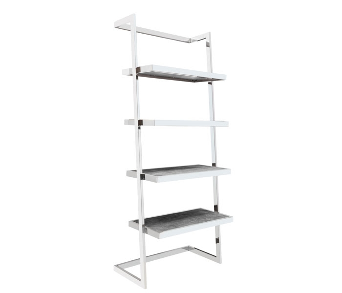 Nouveau Etagere Modern Shelves in grey finish