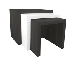 Cilento Modern Nesting Table Large in Wengue