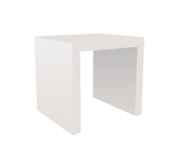 Cilento Modern Nesting Table Small in White