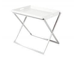 Irpina Modern Side Table in White