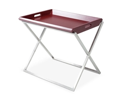 Irpina Modern Side Table in Red