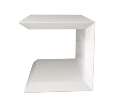 Marini Modern Side Table in White
