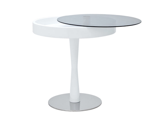 Chianni Modern Side Table in White