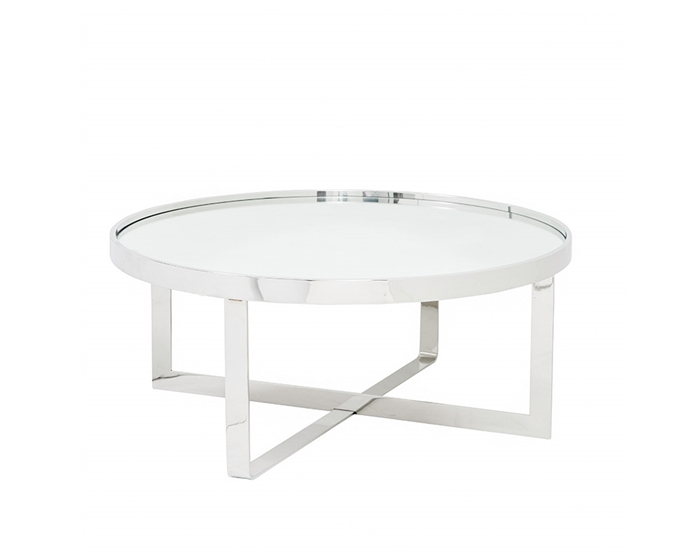 The Varzi Tables have a grey mirror top. Various sizes available to accommodate your space.
