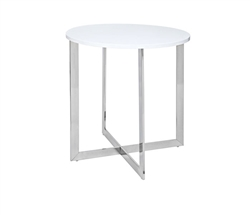 Volterra Modern Side Table in White