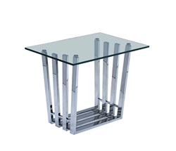 NEW Sorrento Stainless Steel Modern Side Table