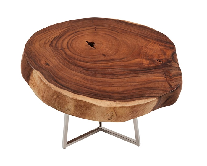 Verona Teak Root Slab Modern Tables