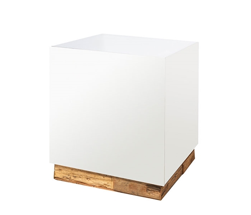 Gela Modern Railway patchwork plinth Side Table