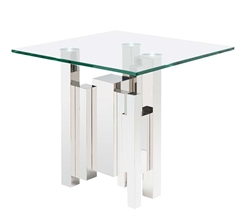 Sanremo Modern Glass Side Table
