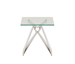 Spezia Modern Glass Side Table
