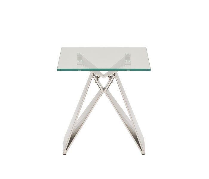 Spezia Modern Square Glass Side Table