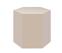 Turin Modern Hexagon Medium Side Table