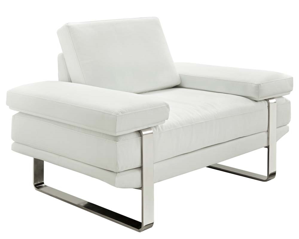 Etonnant Lizzano White 100% Italian Leather   Modern Chair   FINAL SALE/NO RETURNS