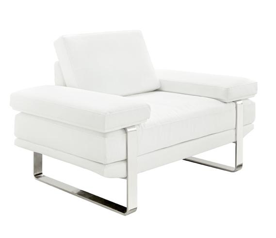 Lizzano Modern Sofa Set in White Leather