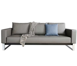 Cassius Modern Sofa Bed in Grey Leatherette