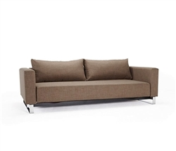 Cassius Sleek Excess Fabric Modern Sofa Modern Bed - Begum Olive Queen Size* Special Order