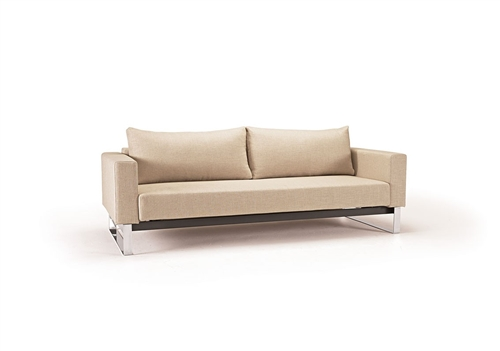 Cassius Sleek Excess Fabric modern Sofa Bed in fabric