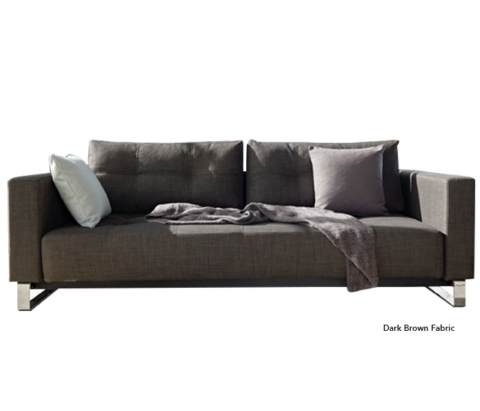 Excess Dark Brown Fabric Queen Sofa Bed