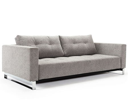 Sofa Bed - Cassius DEL Melange Grey Fabric Sofa Bed - MH2G