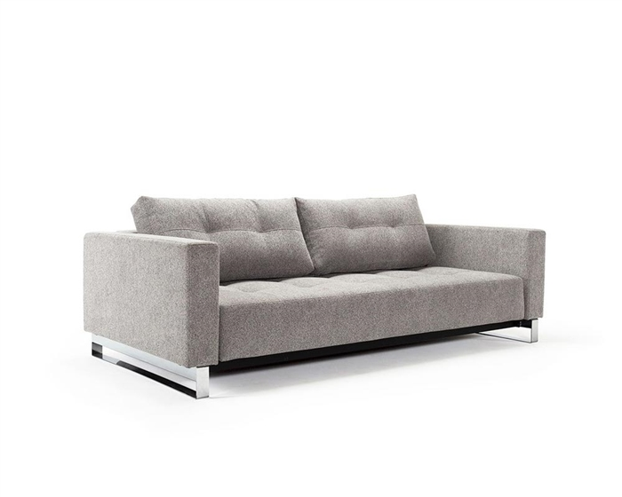 Cassius Deluxe Excess Medium Grey Fabric Sofa Bed * Special Order