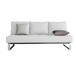 Cassius Modern Sofa Bed in White Leatherette