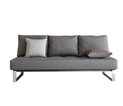 Supremax Queen Excess Lounger Grey Fabric