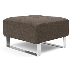 Deluxe Excess Modern Ottoman Dark Taupe