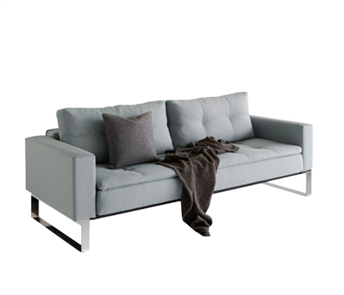 Modern Dual Sofa W/Arms Chrome Legs 55x91