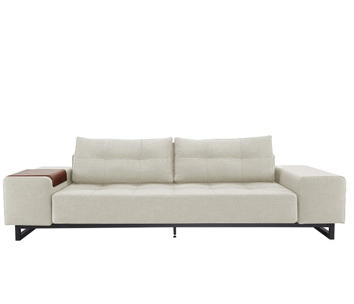 Modern Grand D.E.L Sofa Dark Wood Mixed Dance Natural
