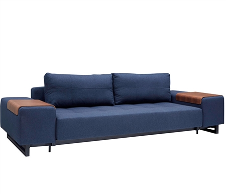 Modern Grand D.E.L Sofa Dark Wood Mixed Dance Blue
