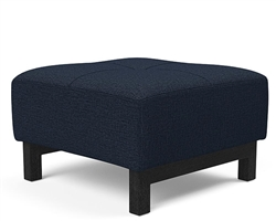 Deluxe Excess Ottoman Dark Wood Mixed Dance Blue