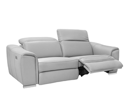 Bellagio Modern Sofa in 100% Grey Leather