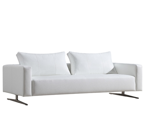 Ancona Modern Sofa in White leatherette