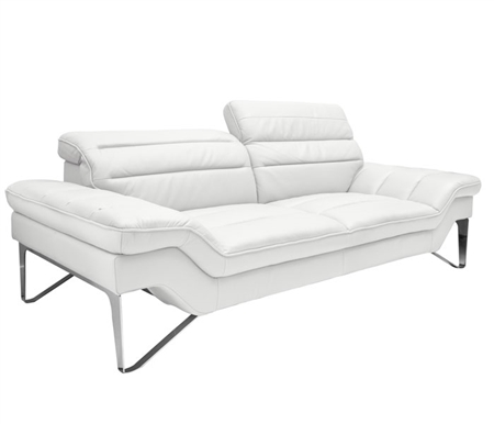 Milano Modern Sofa in White Leather