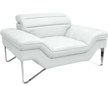 Milano Modern Chair in White Leather
