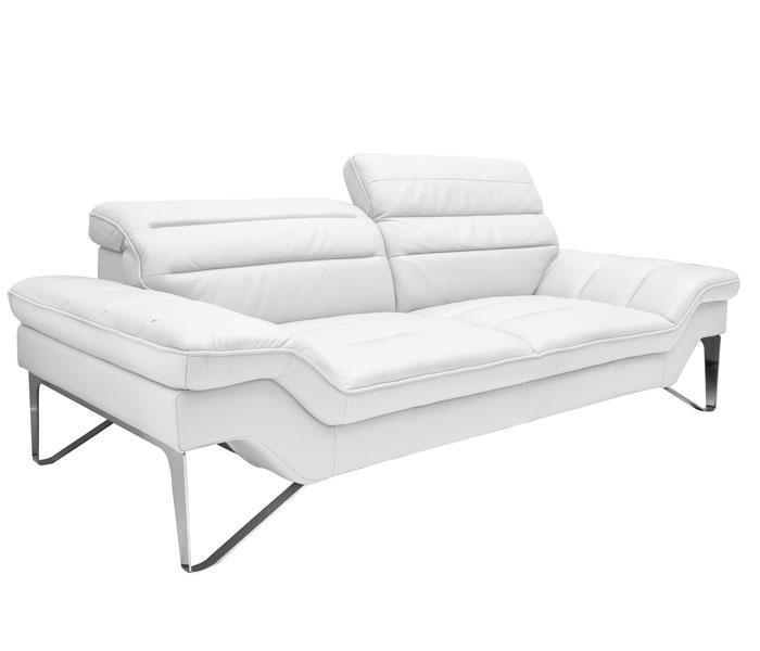 Avansert Sofas - Milano Modern Sofa Set in White Leather - mh2g CF-35