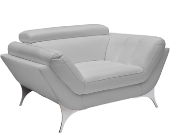 Napoli Modern Chair  in Grey Leather