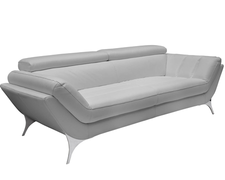 Napoli Modern Sofa  in Grey Leather