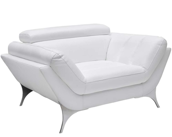 Napoli Modern Chair In White Leather