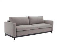 Disa Modern Armless Sofa Black Wood  Legs 55x79 Mixed Grey