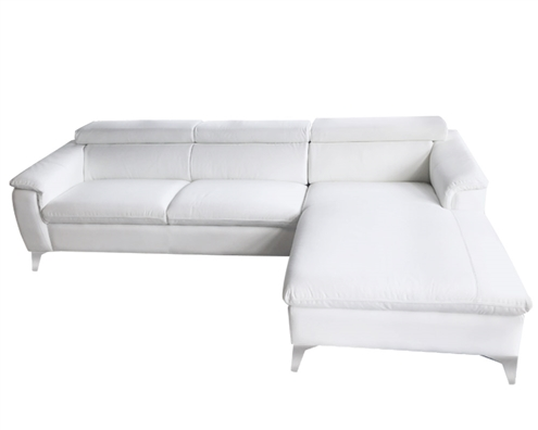 Sectional white Leather Sofa RF